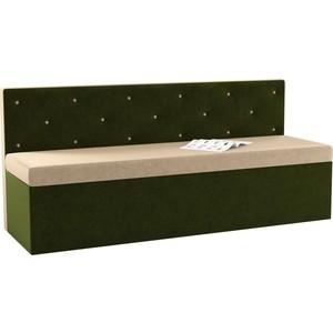 Кухонный диван АртМебель Салвадор микровельвет бежево-зеленый цена
