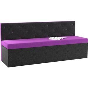 Кухонный диван АртМебель Салвадор микровельвет фиолетово-черный цена