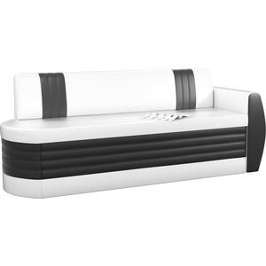 Кухонный диван АртМебель Токио ОД эко-кожа бело-черный правый кушетка артмебель принц эко кожа бело черный правый