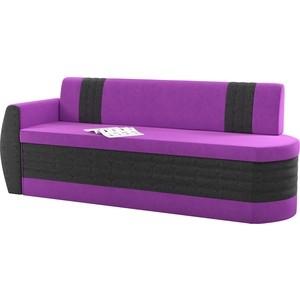Кухонный диван АртМебель Токио ОД микровельвет фиолетово-черный левый кухонный диван артмебель лина микровельвет фиолетово черный