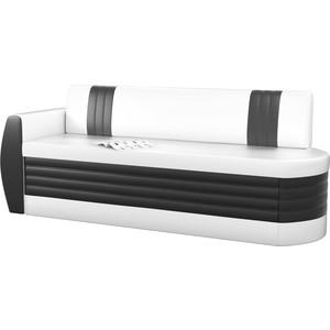 Кухонный диван АртМебель Токио ОД эко-кожа бело-черный левый кушетка артмебель принц эко кожа бело черный правый