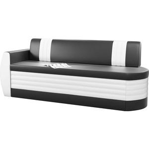 Кухонный диван АртМебель Токио ОД эко-кожа черно-белый левый кухонный диван артмебель лина эко кожа черно белый