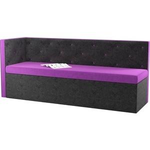 Кухонный угловой диван АртМебель Салвадор микровельвет фиолетово-черный левый угол браслет браслеты браслеты браслеты турецкие симметричные ювелирные изделия цветочного искусства