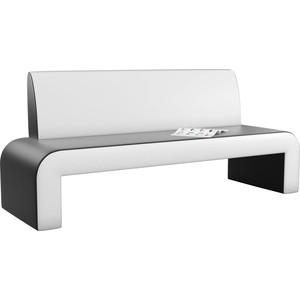 Кухонный диван АртМебель Кармен эко-кожа черно/белый кухонный диван артмебель кармен эко кожа черный белый правый