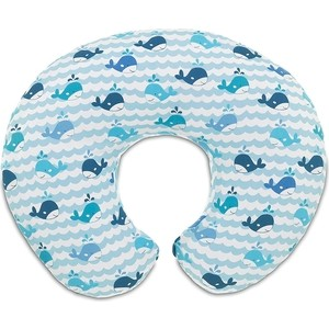 Подушка для кормления Chicco BOPPY BLU WHALES 38cm plush whales toys with soft pp cotton creative stuffed animal dolls cute whales toys fish birthday gift for children