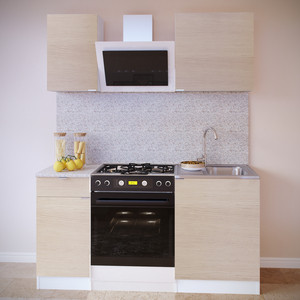 Кухня СОКОЛ ПН-04 белый/дуб сонома + ТК-04.1 белый/дуб сонома + ПН-06 белый/дуб сонома + ТК-06м белый/дуб сонома