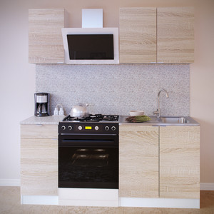 Кухня СОКОЛ ПН-04 белый/дуб сонома +ТК-04.1 белый/дуб сонома + ПН-08 белый/дуб сонома + ТК-08м белый/дуб сонома
