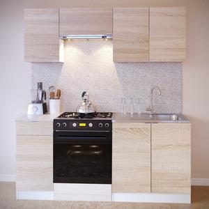 Кухня СОКОЛ ПН-04 белый/дуб сонома + ТК-04.1 белый/дуб сонома + ПН-06.2 белый/дуб сонома + ПН-08 белый/дуб сонома + ТК-08м белый/дуб сонома