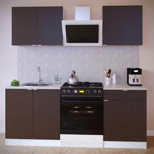 Кухня СОКОЛ ПН-08 белый/венге + ТК-08м белый/венге + ПН-06 белый/венге + ТК-06.1 белый/венге