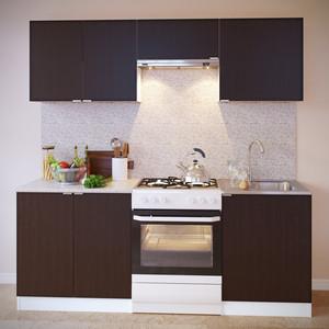 Кухня СОКОЛ ПН-08 белый/венге + ТК-08 белый/венге + ПН-06.2 белый/венге + ПН-06 белый/венге + ТК-06м белый/венге