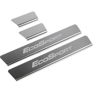 Накладки порогов Rival для Ford Ecosport (2014-н.в.), нерж. сталь, с надписью, 4 шт., NP.1809.3
