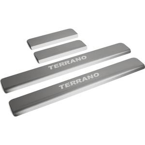 Накладки порогов Rival для Nissan Terrano (2014-н.в.), нерж. сталь, с надписью, 4 шт., NP.4115.3 накладки порогов rival для nissan x trail 2015 н в нерж сталь с надписью 4 шт np 4113 3