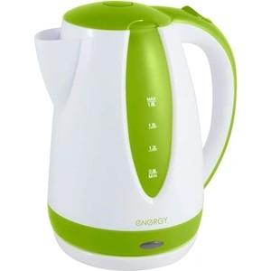 Чайник электрический Energy Е-229 белый/зеленый электрический чайник василиса т1 1500 белый зеленый