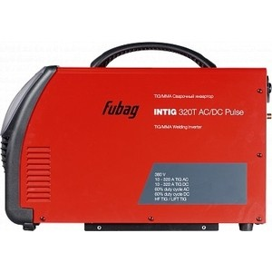 Сварочный инвертор Fubag INTIG 320 T AC/DC Pulse uni t ut209a 2 1 lcd digital ac dc clamp multimeter red coal grey 1 x 9v battery