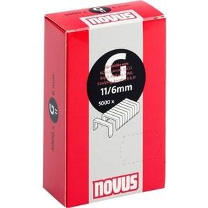 Скобы для степлера Novus 11/6 5000шт (042-0527) скобы novus 4 30 1100шт 042 0461
