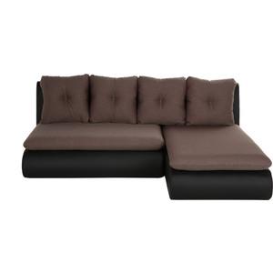 Диван угловой SettySet Кормак мини (Рио мини) коричнево-черный диван угловой settyset кормак рио фиолетовый
