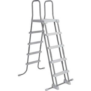 Лестница для бассейнов Intex до 132 см 4 ступеньки с площадкой с защитой 28077