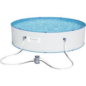 Стальной бассейн Bestway 330х84 см 6757л (56668) с фильтр-насосом bestway бассейн с надувным бортом и фильтр насосом 6665 л bestway