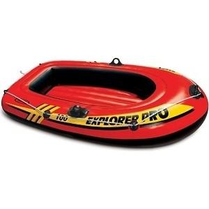 Лодка надувная Intex Explorer Pro 100 (до 80кг) 160х94х29 см 58355 лодка надувная лидер 430 зеленая