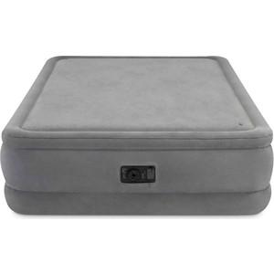 Надувная кровать Intex Foam Top Airbed 152х203х51 см встроенный насос 220V (64470) цена