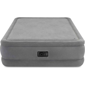 Надувная кровать Intex Foam Top Airbed 152х203х51 см встроенный насос 220V (64470) кровать надувная intex comfort plush mid rise 67766 99х191х33см насос 220v