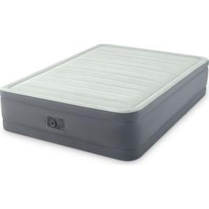 Надувная кровать Intex Premaire Elevated Airbed 137х191х46 см встроенный насос 220V (64904) кровать надувная intex comfort plush mid rise 67766 99х191х33см насос 220v