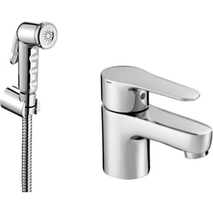 Смеситель с гигиеническим душем Jacob Delafon July (E16319-4-CP) e45714 cp термостат july для ванны с душем jacob delafon