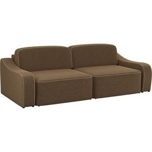 Диван-еврокнижка АртМебель Триумф микровельвет коричневый диван еврокнижка артмебель ричард микровельвет коричневый