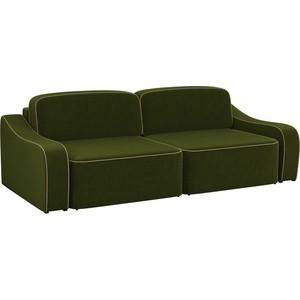 Диван-еврокнижка АртМебель Триумф микровельвет зеленый