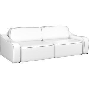 Диван-еврокнижка АртМебель Триумф эко-кожа белый диван еврокнижка артмебель атлант эко кожа белый стол с левой стороны