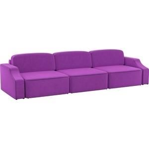 Диван АртМебель Триумф Long slide микровельвет фиолетовый new inflatable slide wave slide slide ocean hx 886