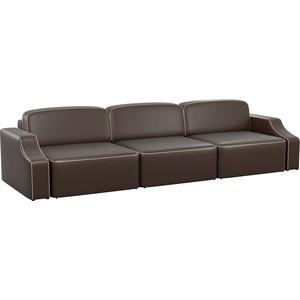 купить Диван АртМебель Триумф Long slide эко-кожа коричневый