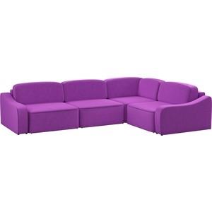 Диван угловой АртМебель Триумф Long микровельвет фиолетовый правый угол диван кровать смк дюссельдорф 147 б 2д у1пф правый угол 352 alba ash