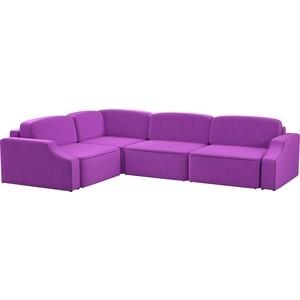 Диван угловой АртМебель Триумф Long slide микровельвет фиолетовый левый угол