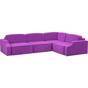 Диван угловой АртМебель Триумф slide Long микровельвет фиолетовый правый угол саундтрек саундтрек jaws 180 gr