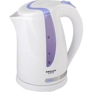 Чайник электрический Delta DL-1016 белый с фиолетовым запонки bertini 6 c 1016 20 cr