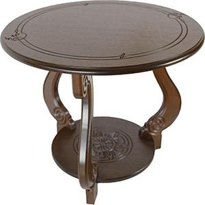 Стол журнальный Мебелик Грация (М) тёмно-коричневый стол журнальный мебелик штурвал тёмно коричневый прозрачное