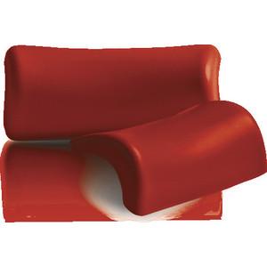 Подголовник для ванны 1Marka Lia на присосках, красный (4604613300227)