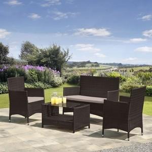 Комплект мебели из искуственного ротанга Afina garden AFM-2025B brown
