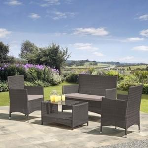 Комплект мебели из искуственного ротанга Afina garden AFM-2025G grey садовый павильон afm 1558