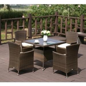 Комплект мебели из искуственного ротанга Afina garden AFM-410SL90x90 4Pcs brown (4+1)