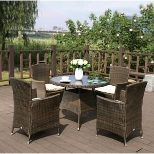 Комплект мебели из искуственного ротанга Afina garden AFM-410RD90 4Pcs brown (4+1)