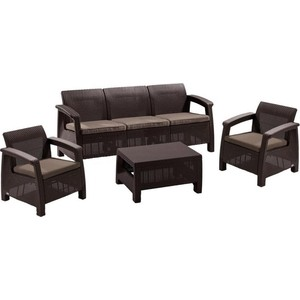 Комплект мебели с диваном Afina garden Yalta 3set AFM-1030A brown/cappuccino (имитация ротанга) 5Pcs футболка с полной запечаткой мужская printio luke skywalker star wars