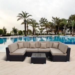 Комплект мебели из искуственного ротанга Afina garden YR822-W53 old brown комплект мебели из искуственного ротанга afina garden t282bnt y137c w56 light brown 2 1