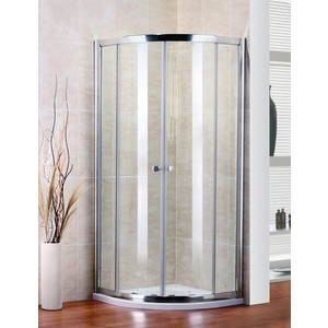 Душевой уголок Cezares PRATICO-R-2-100-C-Cr профиль хром, стекло прозрачное