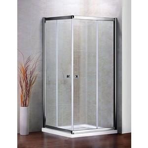 Душевой уголок Cezares PRATICO-A-2-100-C-Cr профиль хром, стекло прозрачное
