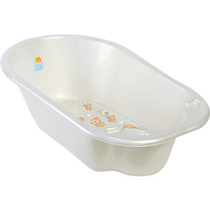 Ванночка Little Angel Дельфин с рисунком белый р-р 80*51*25см УТ000003586