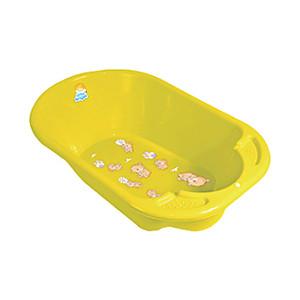 Ванночка Little Angel Дельфин с рисунком жёлтый р-р 80*51*25см УТ000006163