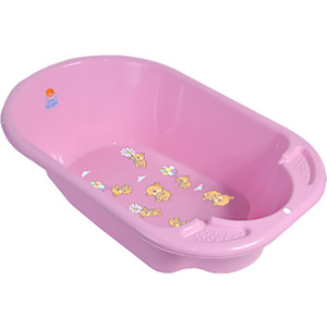 Ванночка Little Angel Дельфин с рисунком розовый р-р 80*51*25см УТ000003589