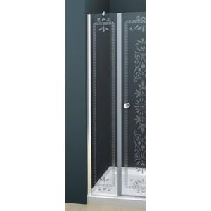 Универсальная боковая панель Cezares ROYAL PALACE-A-30-FIX-CP-Cr профиль хром, стекло прозрачное с матовым рисунком